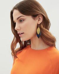 Jaeger - Lana Leaf Earrings - Lyst