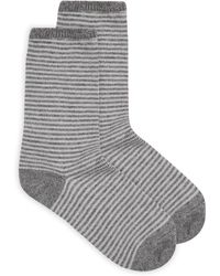 Jaeger - Stripe Cashmere Socks - Lyst