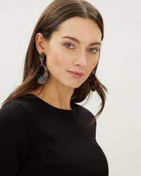 Jaeger - Jennifer Tortoiseshell Oval Earrings - Lyst