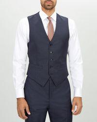 Jaeger - Regular Basketweave Suit Waistcoat - Lyst