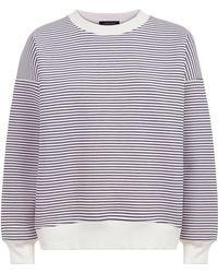 Jaeger | Sculpted Stripe Sweatshirt | Lyst