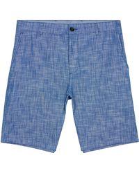 Jaeger - Cotton Highlight Weave Shorts - Lyst
