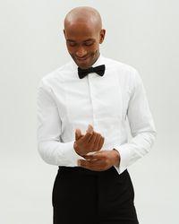 7c1406d7d69b72 Lanvin Men's Taupe Cotton Chiffon Pleated Bib Tuxedo Button Up Shirt in  Natural for Men - Lyst