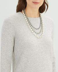 Jaeger - Pearl 3 Row Long Necklace - Lyst