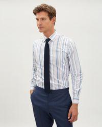 Jaeger - Slim Contrast Wide Stripe Shirt - Lyst