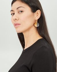 Jaeger - Etched Earrings - Lyst