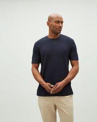 Jaeger - Textured T-shirt With V Insert - Lyst