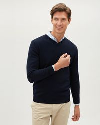 Jaeger - Merino V-neck Sweater - Lyst