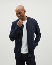 Jaeger | Jersey Quilted Bomber | Lyst