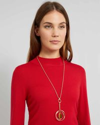 Jaeger | Rachel Ring And Stone Long Necklace | Lyst