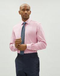 Jaeger - Regular Melange Pique Jersey Shirt - Lyst