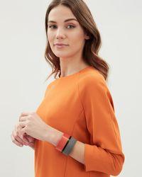 Jaeger - Orange Graphic Resin Cuff - Lyst