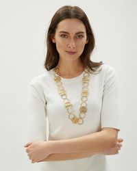 Jaeger - Ring & Disc Long Necklace - Lyst