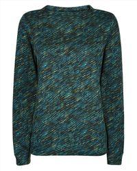 Jaeger - Diagonal Dash Print Sweatshirt - Lyst