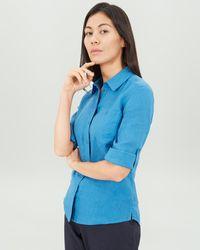 Jaeger - Linen Roll Sleeve Shirt - Lyst