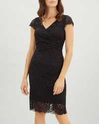 Jaeger - Side Gathered Lace Dress - Lyst