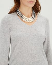 Jaeger - Pearl 3 Row Necklace - Lyst