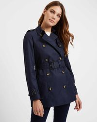 select for authentic ever popular best choice Short Trench Coat - Blue