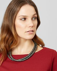 Jaeger - Sadie Sparkle Mesh Short Necklace - Lyst
