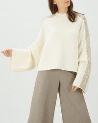 Jaeger - Merino Wool Cape Sweater - Lyst