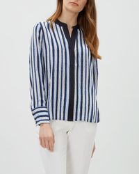 Jaeger - Herringbone Striped Shirt - Lyst