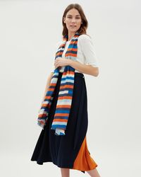 Jaeger - Small Stripes Scarf - Lyst