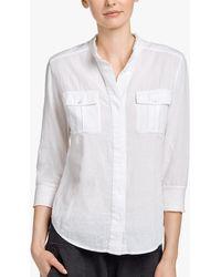 James Perse - Cotton Gauze Safari Shirt - Lyst