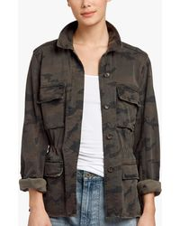 James Perse - Camo Print Military Jacket - Lyst