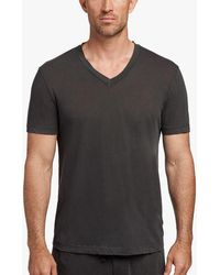 James Perse - Clear Jersey V-neck - Lyst