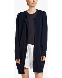 James Perse - Cotton Crepe Cardigan - Lyst