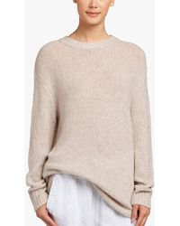 James Perse - Oversized Cashmere Boucle Sweater - Lyst