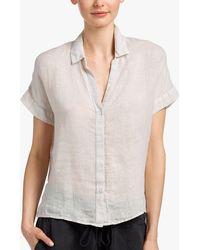 James Perse - Lightweight Linen Shirt - Lyst