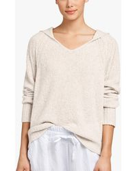 James Perse - Cashmere Boucle Cropped Hoodie - Lyst