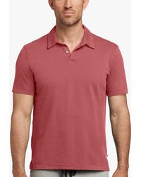 James Perse - Sueded Jersey Polo - Lyst