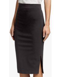 James Perse - Side Split Pencil Skirt - Lyst