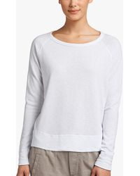 James Perse - Vintage Fleece Long Sleeve Sweatshirt - Lyst