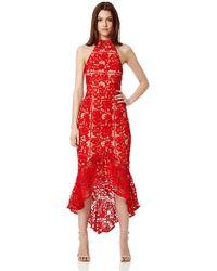 Jarlo - Jaq Lace High Neck Midi Dress - Lyst