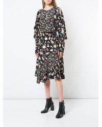 Jason Wu - Painterly Floral Print Ruffle Skirt - Lyst