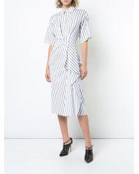 Jason Wu - X Hotel Esencia Striped Poplin Shirt Dress - Lyst