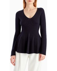Jason Wu - Long Sleeve V-neck Sweater - Lyst