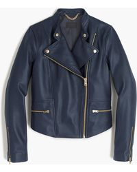 J.Crew - Collection Leather Motorcycle Jacket - Lyst