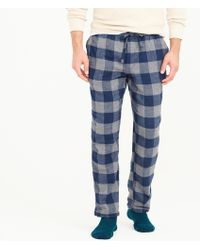 J.Crew - Flannel Pajama Pant In Buffalo Check - Lyst