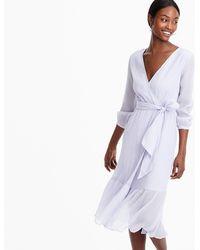 J.Crew - Point Sur Faux-wrap Dress In Crinkle Cotton - Lyst