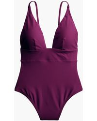 J.Crew - Deep V-neck French One-piece Swimsuit - Lyst