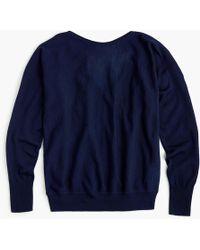 J.Crew - V-back Pullover Sweater In Merino Wool - Lyst