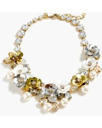 J.Crew - Crystal And Sequin Wreath Necklace - Lyst