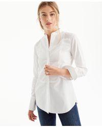J.Crew - Thomas Mason Mandarin-collar Tuxedo Shirt - Lyst