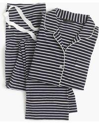 J.Crew - Dreamy Cotton Pyjama Set In Stripe - Lyst