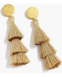 J.Crew - Tiered Tassel Earrings - Lyst