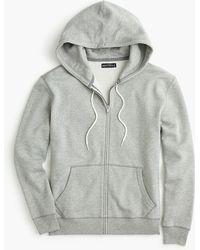 J.Crew - Brushed Fleece Full-zip Sweatshirt - Lyst
